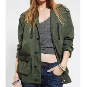 BDG military faux leather jacket